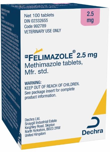 Felimazole® 2.5 mg methimazole tablets for cats