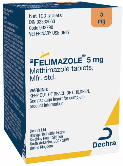 Felimazole® 5 mg methimazole tablets for cats